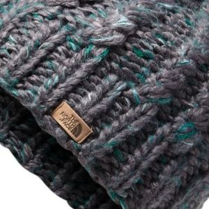The North Face Accessories - The North Face Women's Chunky Beanie Black/Green
